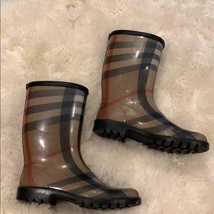 Burberry Check Rainboots Size 36